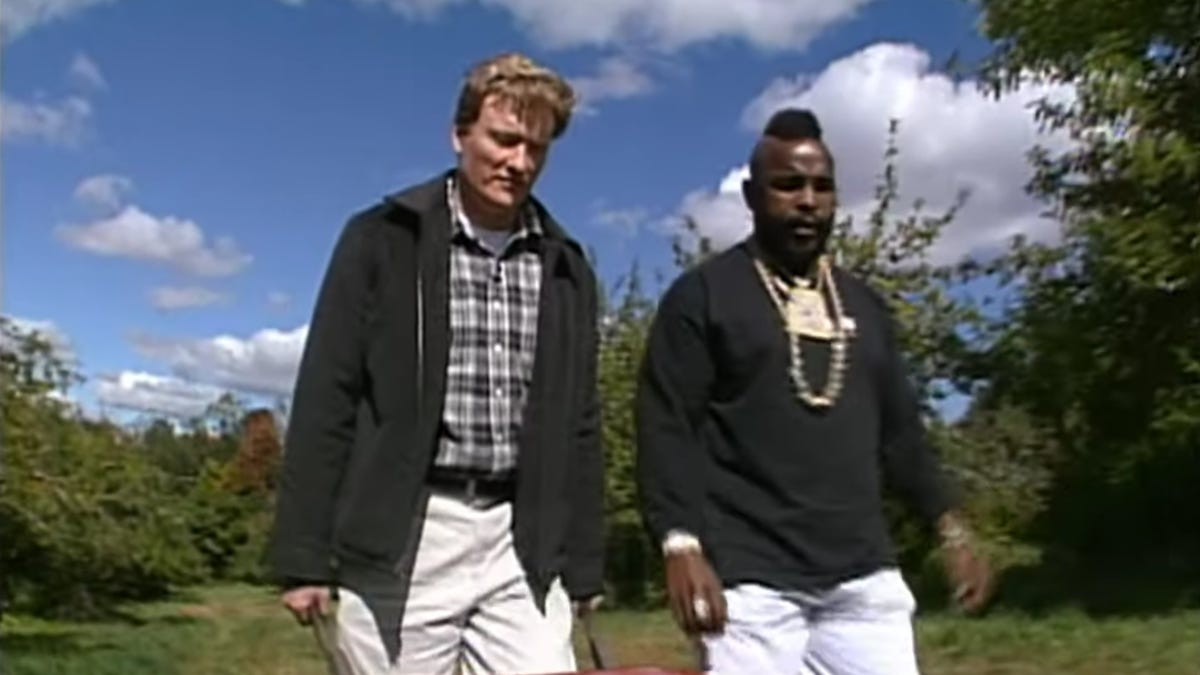 It's not really fall until you watch Conan and Mr. T go apple-picking