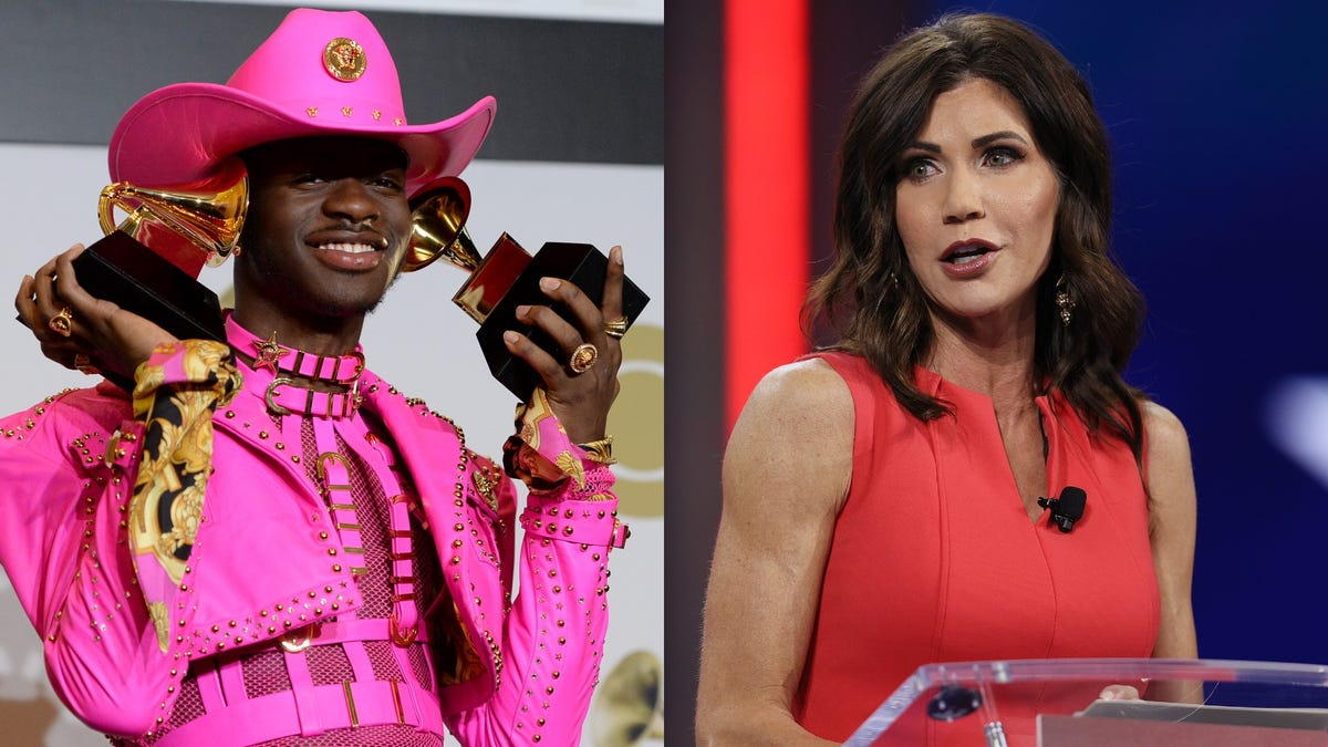 South Dakota Governor Kristi Noem Got Into a Twitter Fight With Lil Nas X, and Lost
