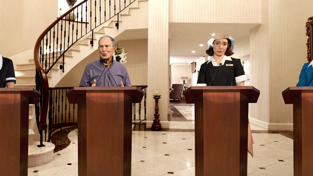 Bloomberg Housekeepers Brace For Another Day Of Dressing Up Like DNC Candidates And Letting Boss Beat Them In Debate