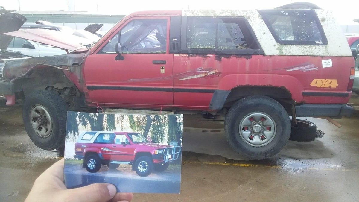This Junkyard Toyota 4Runner With A Photo Of The Glory Days In The Glovebox Is Just Sad