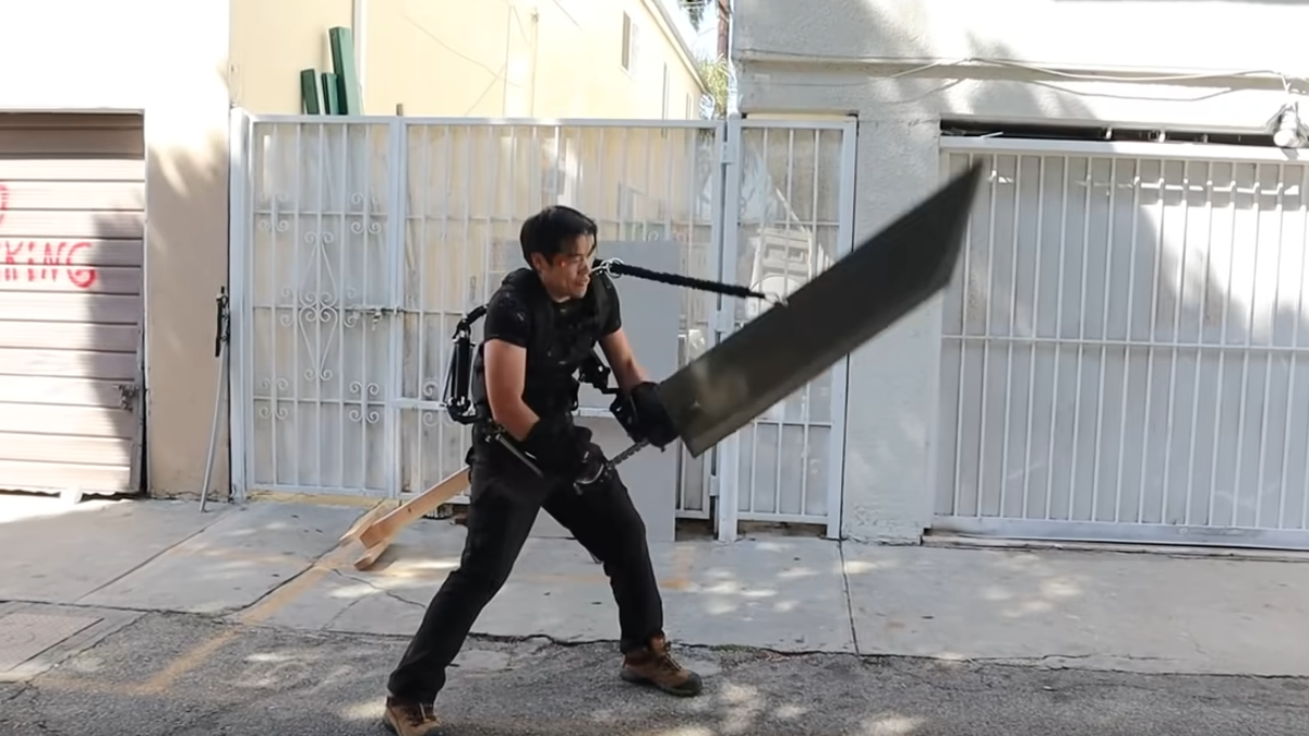 Wannabe Final Fantasy character buys exoskeleton that lets him wield giant sword - The A.V. Club