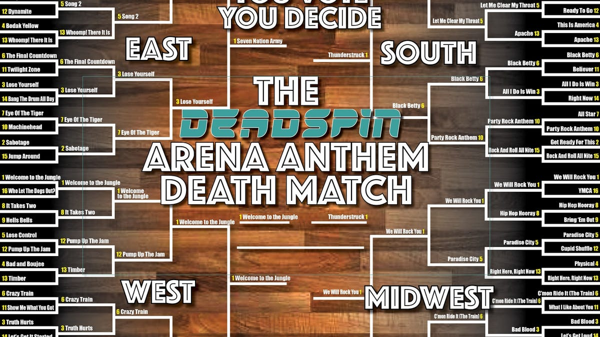 It's 'Thunderstruck' vs. 'Welcome to the Jungle' in Fight for Arena Anthem Glory