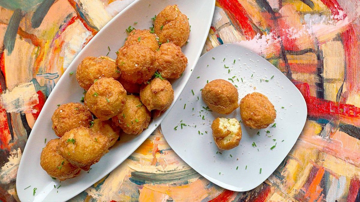 Fried Potato Puffs recipe