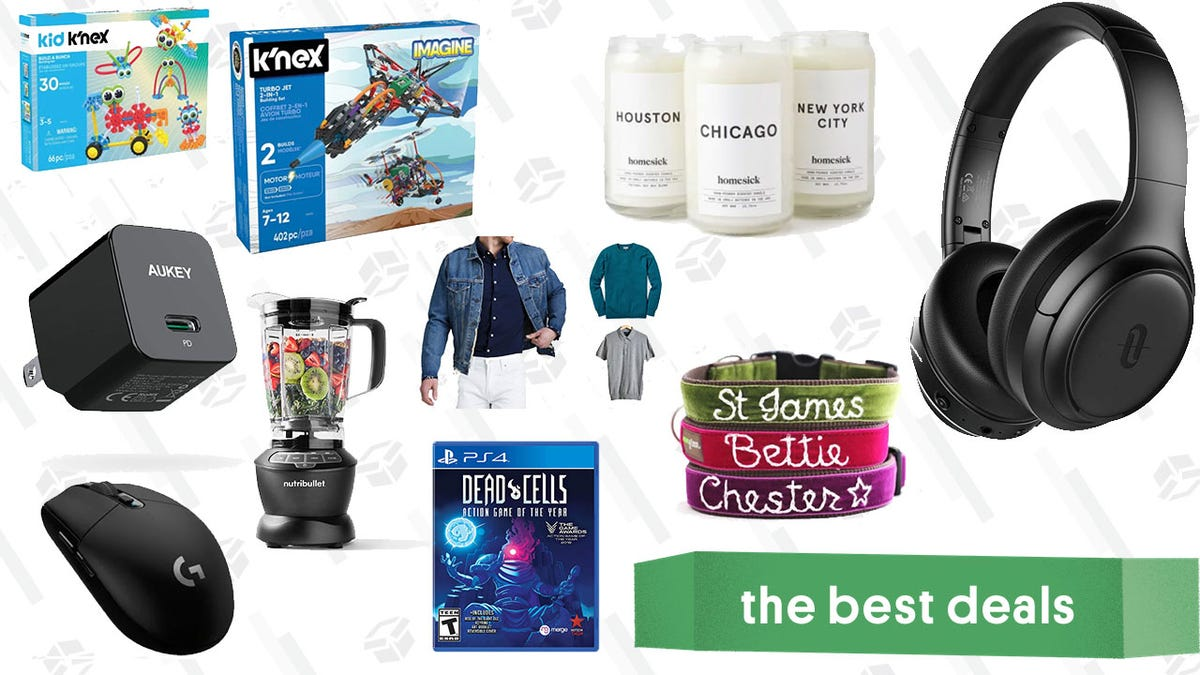 Monday's Best Deals: Taotronics ANC Headphones, Homesick Candles, NutriBullet Blender, Logitech G305 Gaming Mouse, Customizable Dog Collars, and More
