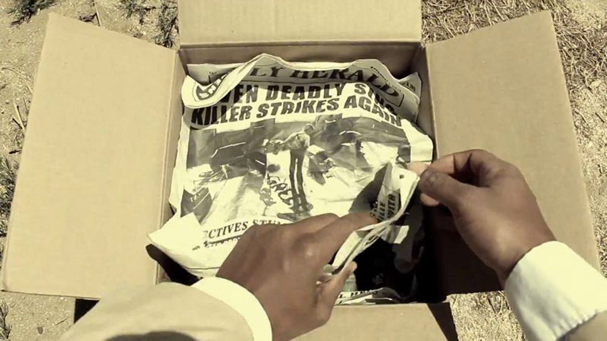 Watch Morgan Freeman's unboxing video from Se7en