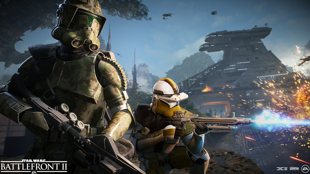Even Star Wars Battlefront Ii S Developers Were Confused About A Droid In One Of Their Screenshots