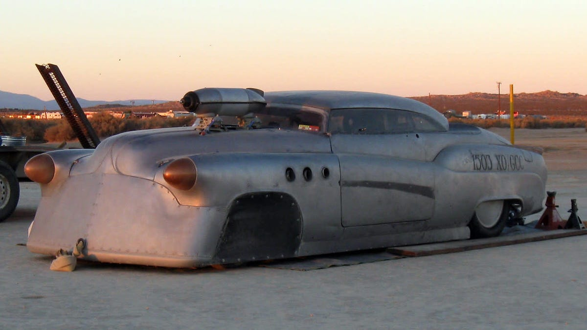 If you like weird custom cars, it is time you schedule a trip to El Mirage dry lake bed for one of the land speed events held there every year in the summer and fall. Maybe you'll see Brock's Bombshell Betty, pictured above. Or maybe you'll see an old Ford shaped like a cheese wedge. I can pretty much guarantee you'll see something you've never seen before.