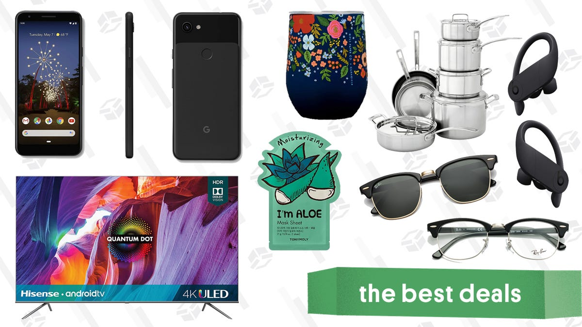 Friday's Best Deals: Google Pixel 3a, Hisense Quantum Dot TVs, Cuisinart Stainless Steel Pots and Pans, GlassesUSA Designer Brand Memorial Day Sale, and More