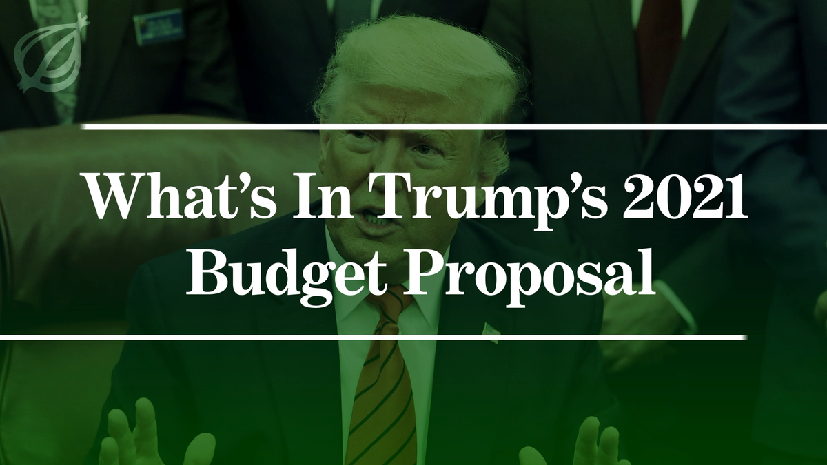 What's In Trump's 2021 Budget Proposal