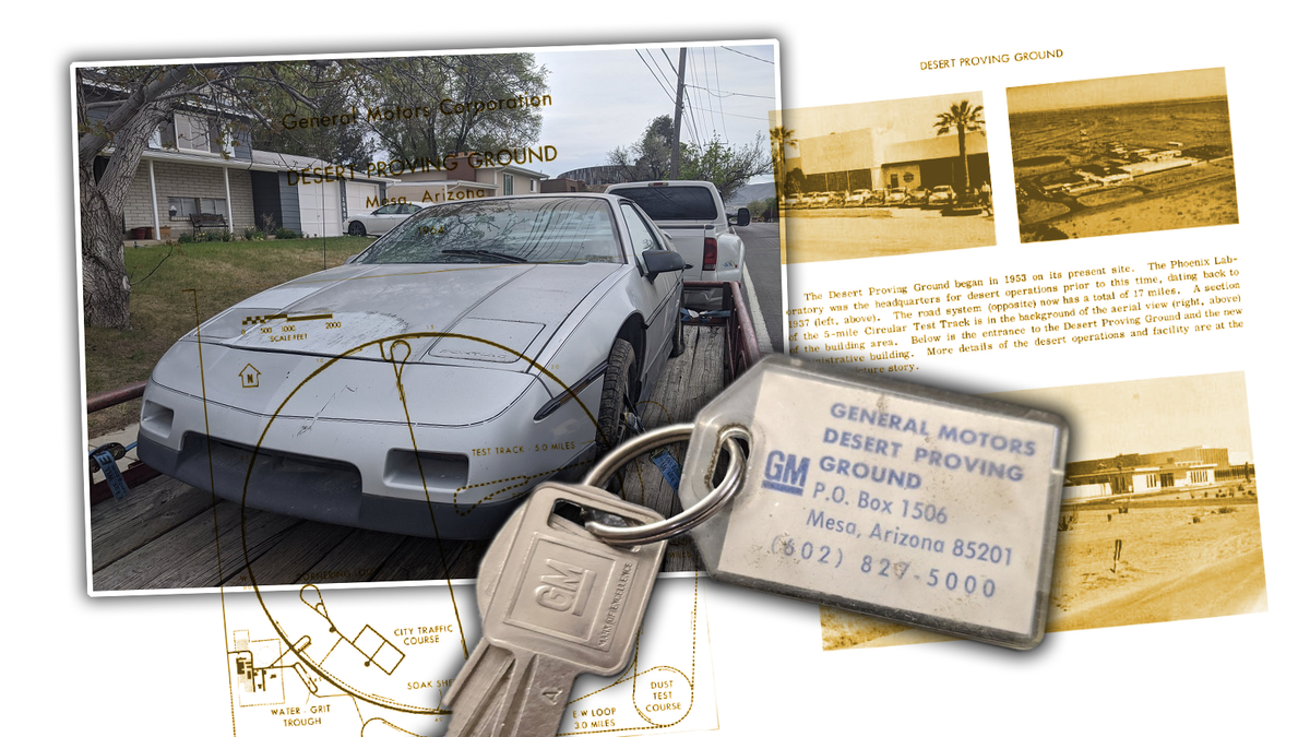 This $400 Junkyard Pontiac Fiero Was Once Used At GM's Desert Proving Ground And I'm Obsessed