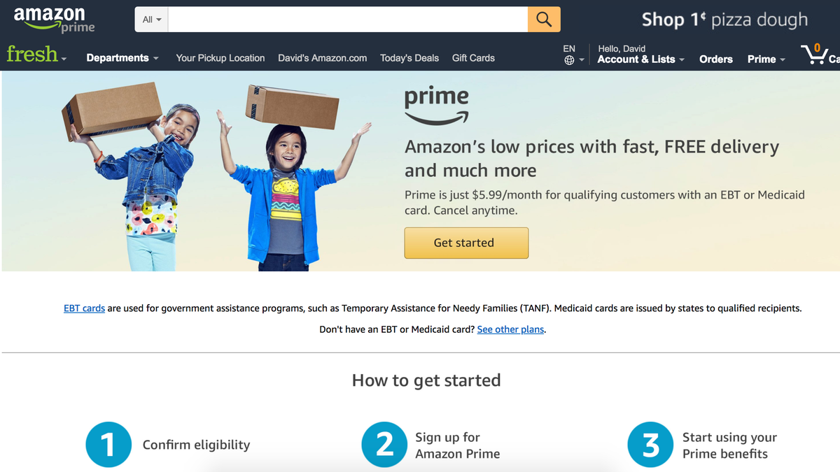 amazon prime food stamps