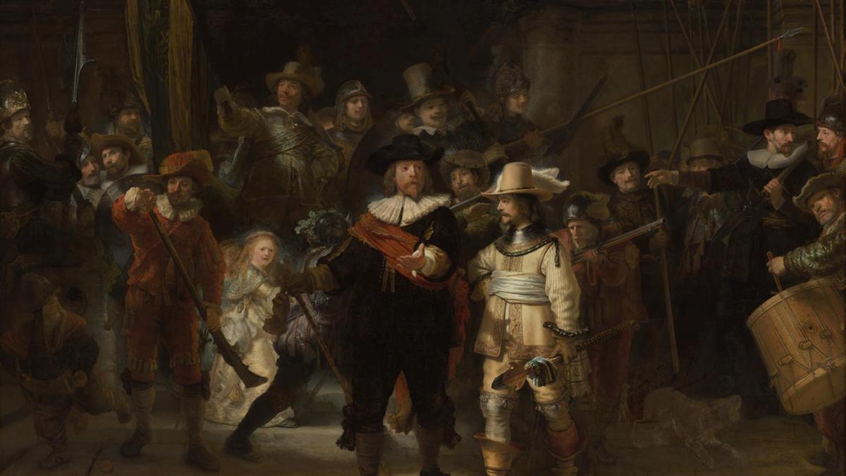 La ronda de noche, de Rembrandt, como nunca lo has visto