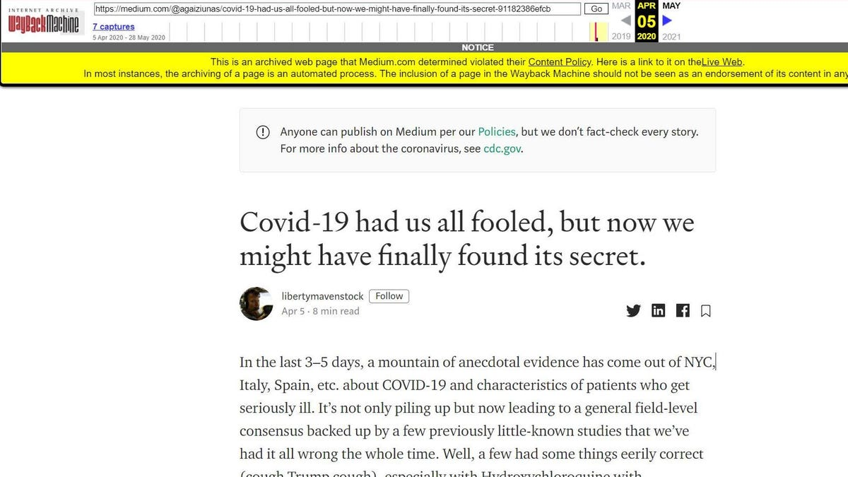 Even the Wayback Machine Is Adding Fact-Checking Labels Now