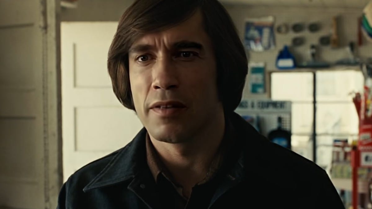 We are pleased to share Arnold Schwarzenegger as No Country For Old Men's Anton Chigurh