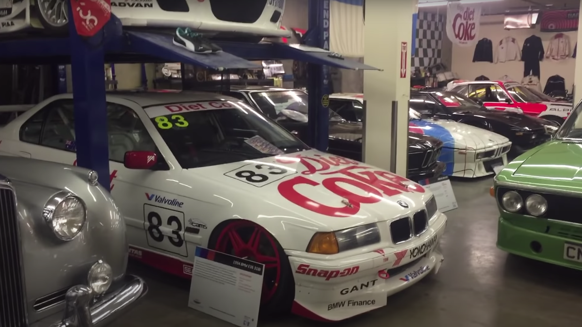 This Guy's Personal Garage Is An Amazing BMW Race Car Retirement Home
