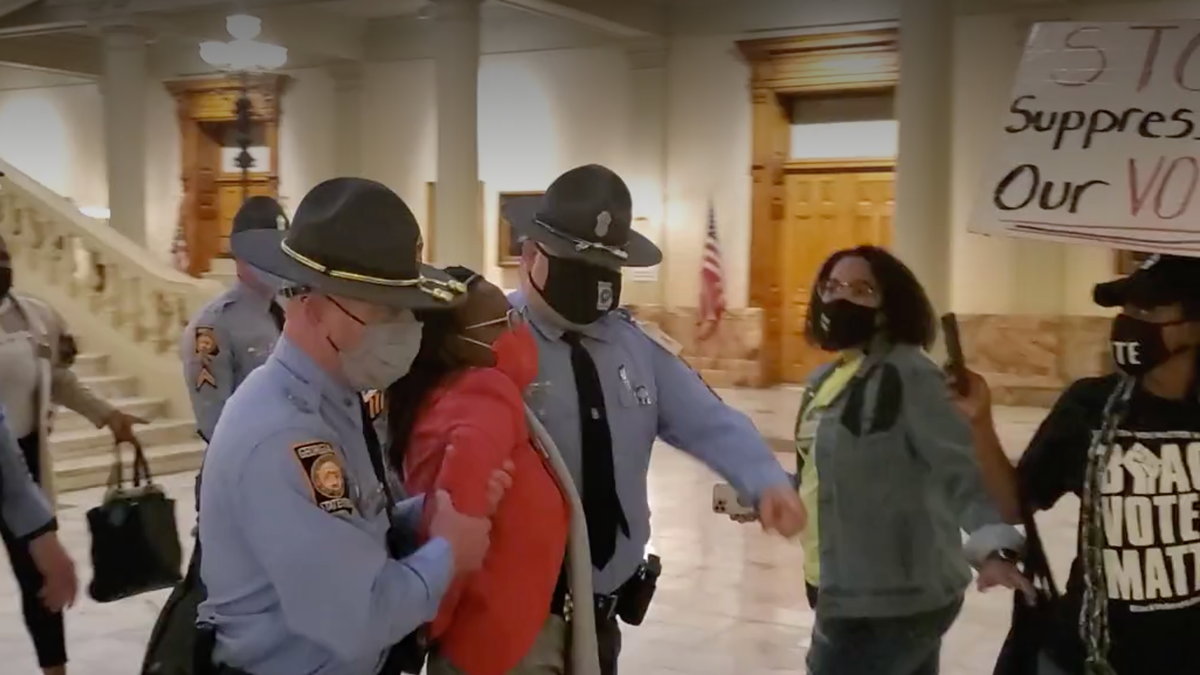 A Black Lawmaker Was Arrested, Charged With 'Knowingly' Knocking On Brian Kemp's Door As He Disenfranchised Black Voters