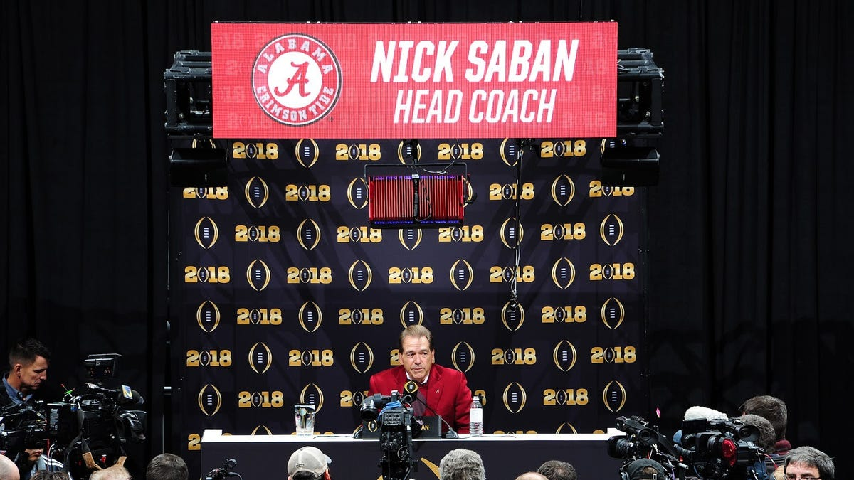 Reporter, offended by disrespect of fishing acquaintance Nick Saban, pens gushy screed