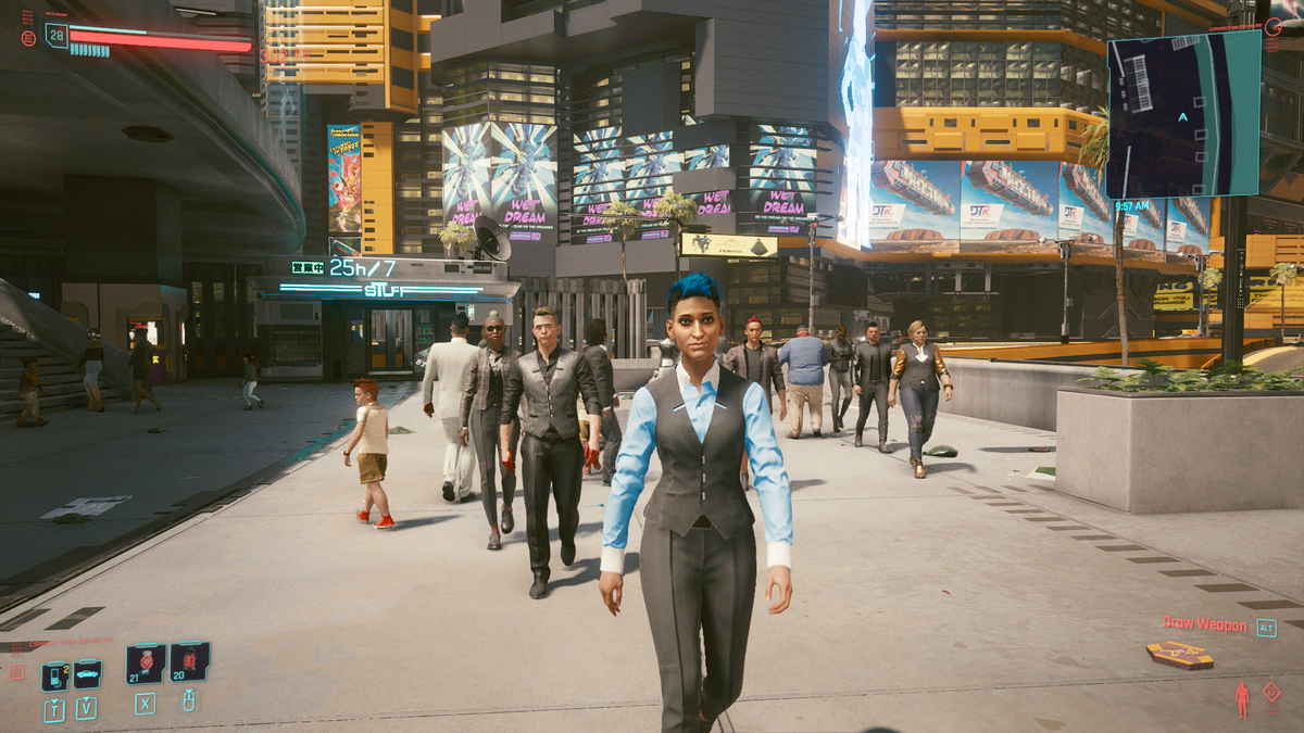 A Lunch Break With This Cyberpunk 2077 NPC