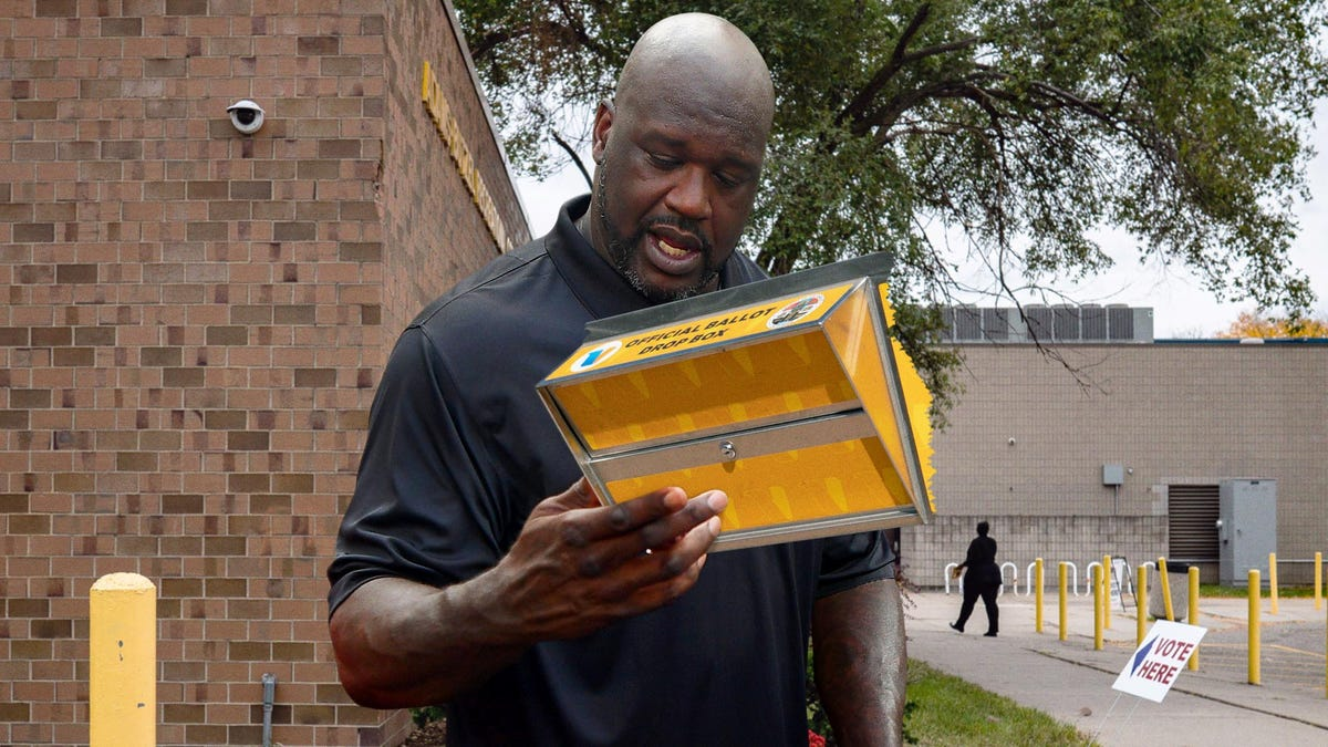 Shaquille O'Neal Shatters Ballot Box While Trying To Vote For First Time - the onion