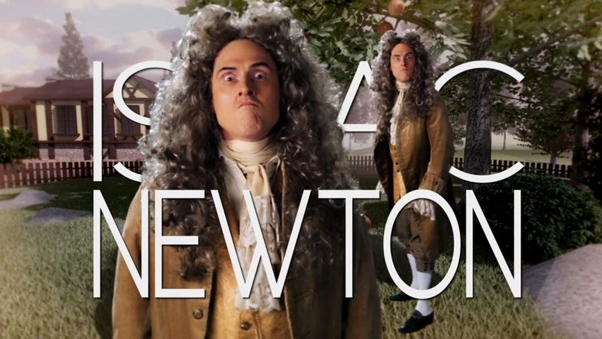 """Weird Al"" Yankovic plays Isaac Newton in Epic Rap Battles Of History"