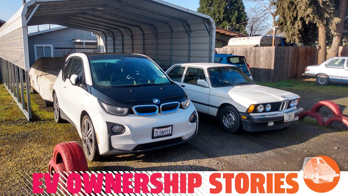 Two BMW Electric Cars: One From The Factory And One Converted At Home