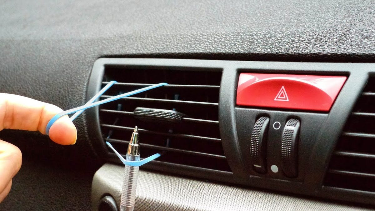 Quickly Clean Your Car Air Vents With a Foam Paint Brush