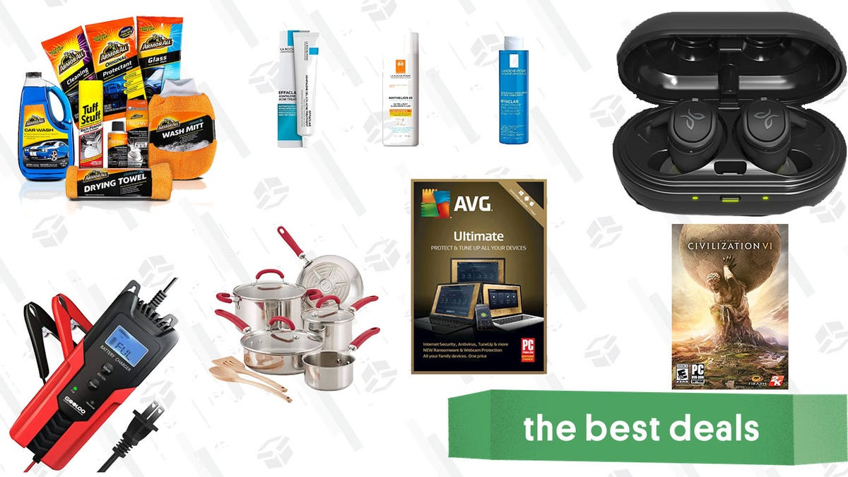Tuesday's Best Deals: Jay Bird Headphones, Armor All Car Cleaning Kit, Rachael Ray Cookware, Civilization VI, and More