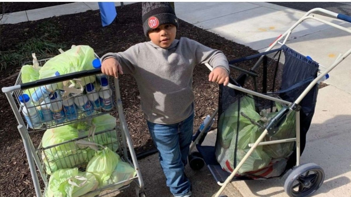 What Were You Doing When You Were Seven? Because This Kid was Spending $600 on Food and Care Packages for People Put Out by Coronavirus Pandemic