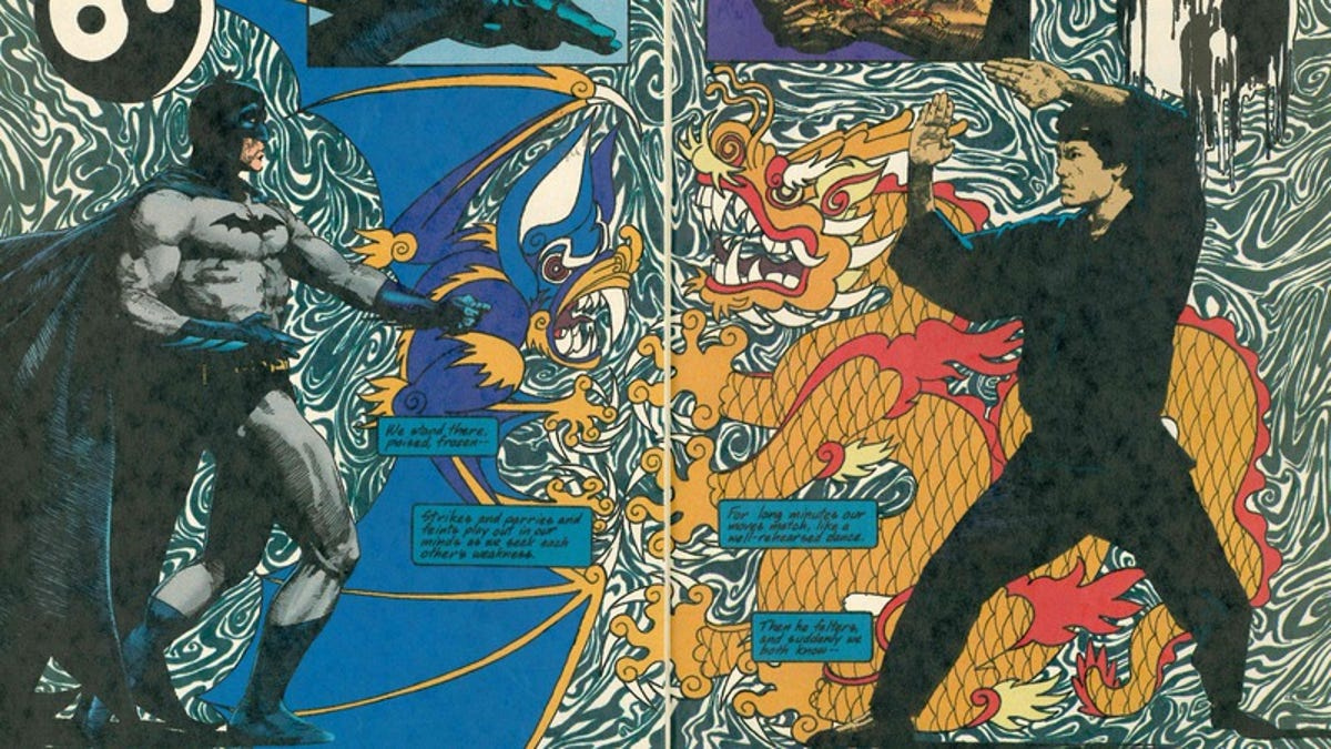 3 panels that show the Taoist ideologies of Batman