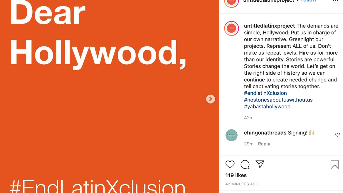 Latinx Writers 'Refuse to Be Filtered Through a White Perspective' in Open Letter to Hollywood