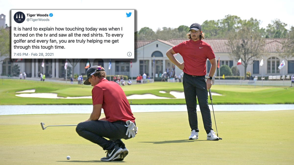Tiger touched by Sunday Red tribute