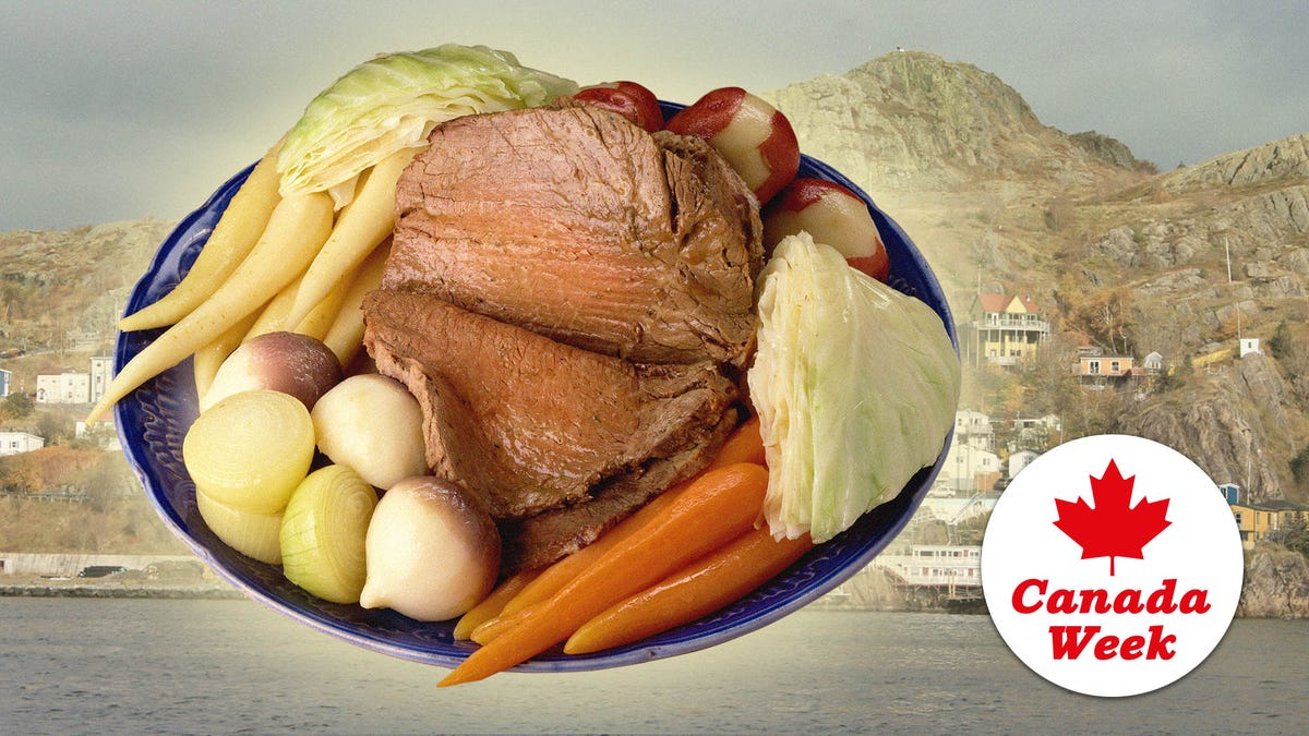 Jigg's Dinner is a classic Irish boiled dinner with a Newfoundland twist