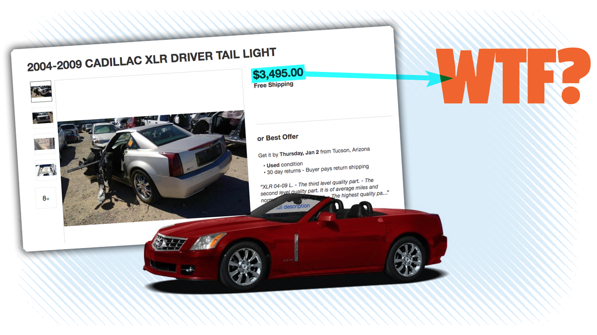 Why A Cadillac XLR Brake Light Can Cost More Than A Used Corolla