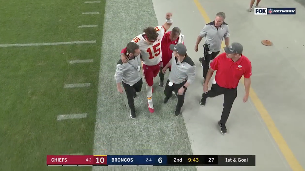 Patrick Mahomes Ruled Out Of Chiefs-Broncos After Suffering Leg Injury
