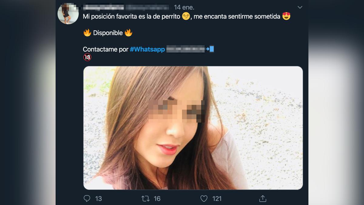 Numeros de chicas porno Mujeres Desnudas Publicando Su Whatsapp Un Pornbot En Twitter