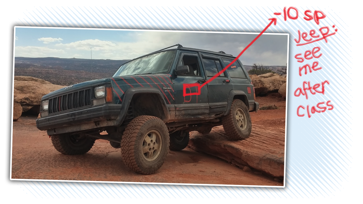 Jeep Built Hundreds Of Thousands Of Old Cherokee XJs With An Egregious Spelling Error