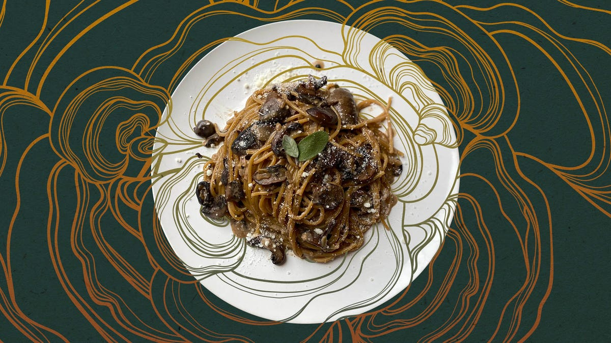 Recipe: Caramelized Mushroom Pasta with miso and sage