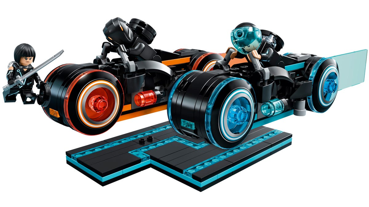 Start Saving Your Quarters Because Lego's Tron: Legacy Light Cycles Set Finally Arrives Next Week