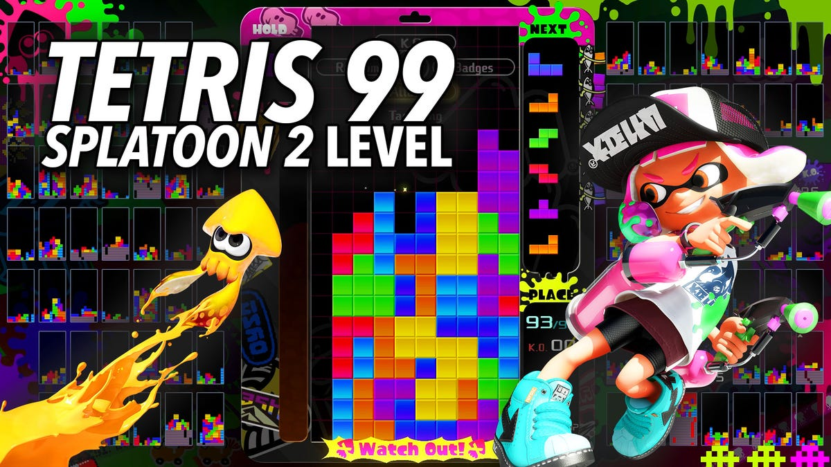 Tetris 99's New Splatoon Theme Adds A Perfect Amount Of Pop