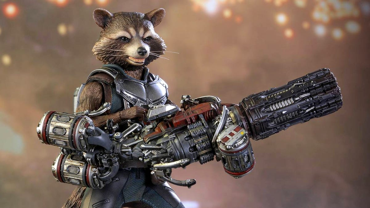 Hot Toys' Rocket Raccoon Comes With a Blaster That's Almost Bigger Than He Is