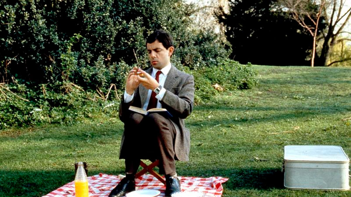 All of Rowan Atkinson's bits are on display in Mr. Bean: The Whole Bean