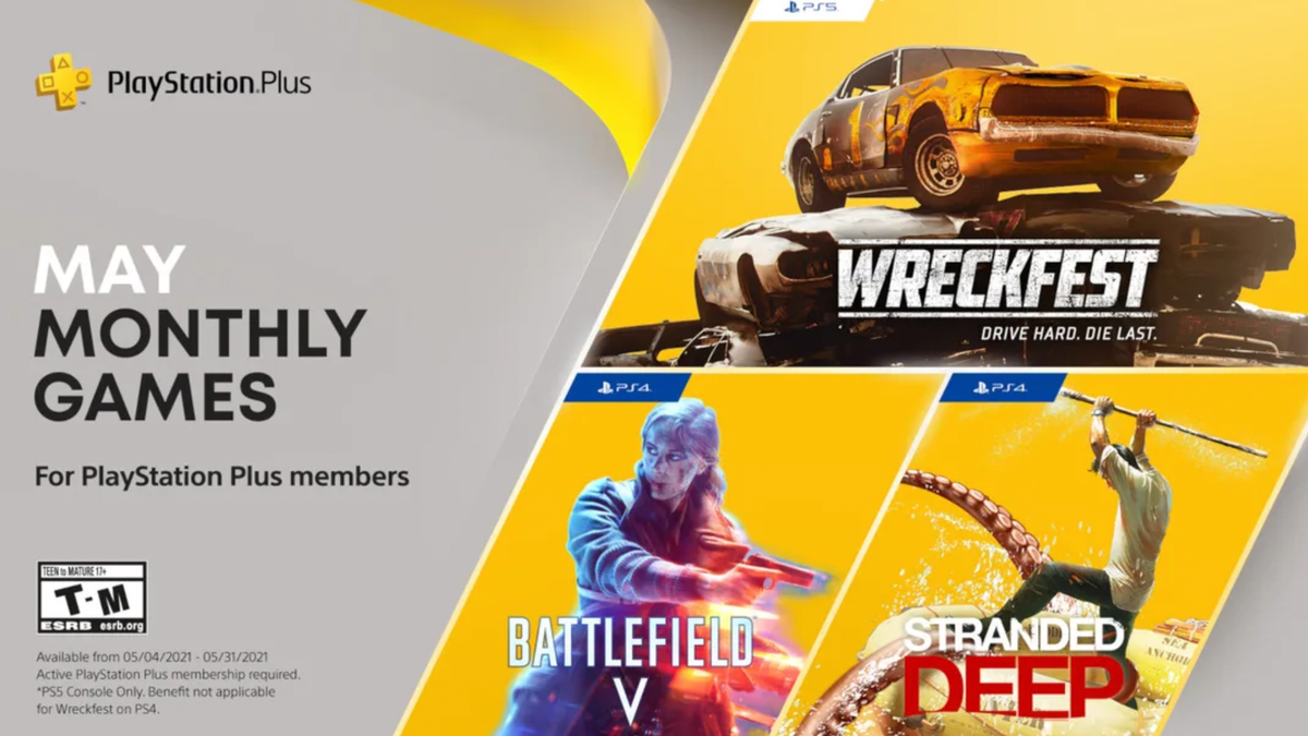 Here's May 2021's PlayStation Plus Lineup