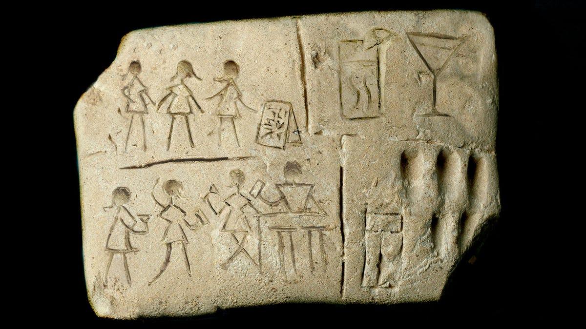 Vor Kurzem Ausgegraben Alten Sumerischen Keilschrift Tablet Zeigt Die Früheste Bekannte Einhaltung Der Ladies' Night