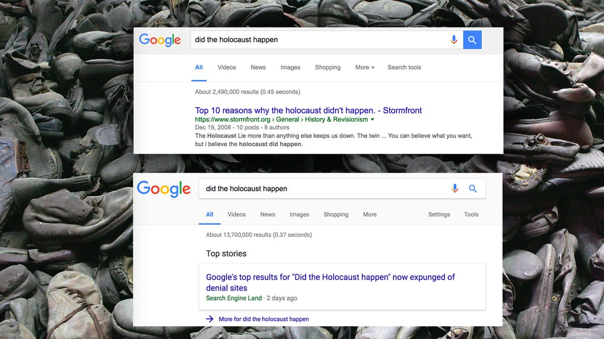 Google Fixes Algorithm to Remove Holocaust-Denying Results and Other 'Non-Authoritative Information'