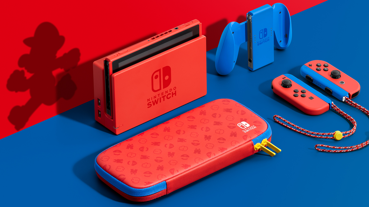 New Nintendo Switch Is In Mario Colors And Looks Fantastic