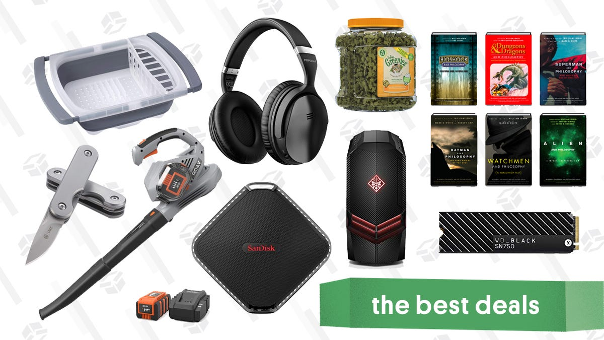 Tuesday's Best Deals: Status Audio Headphones, Echo Dots, Anker Leaf Blower, and More
