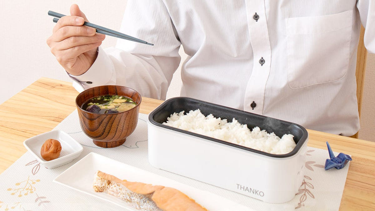 Bento Box Rice Cooker Will Vastly Improve the Work Lunches You Bring From Home