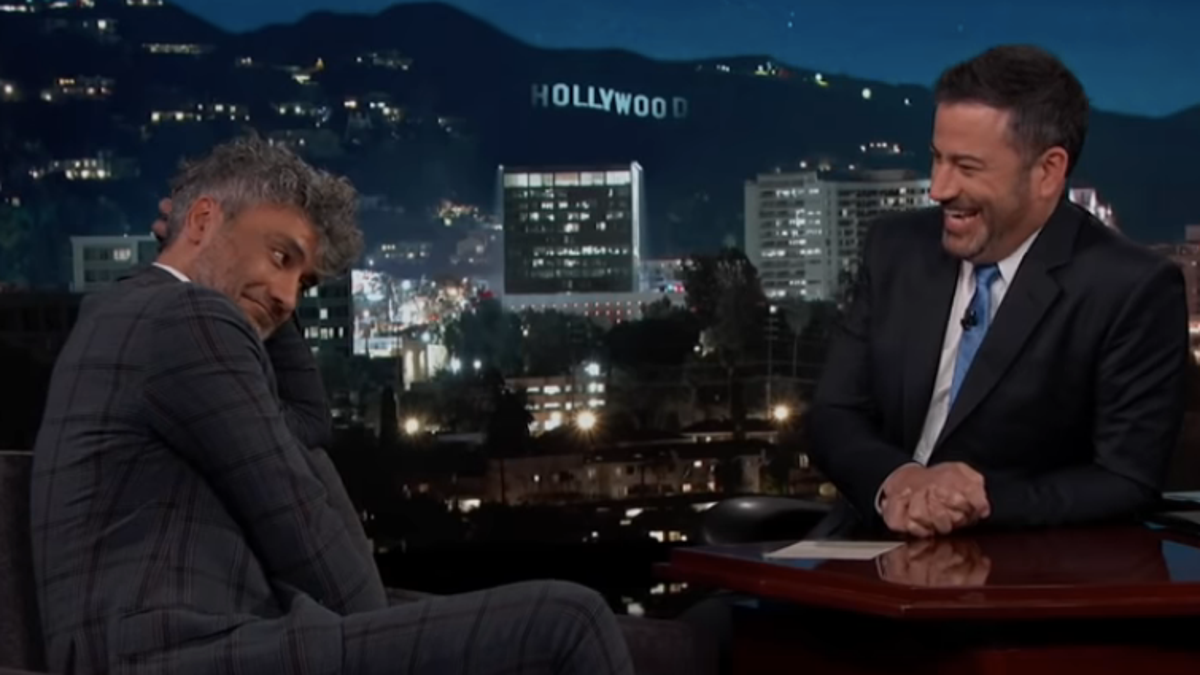 Taika Waititi outlines the pitfalls of playing funny Hitler on Jimmy Kimmel Live