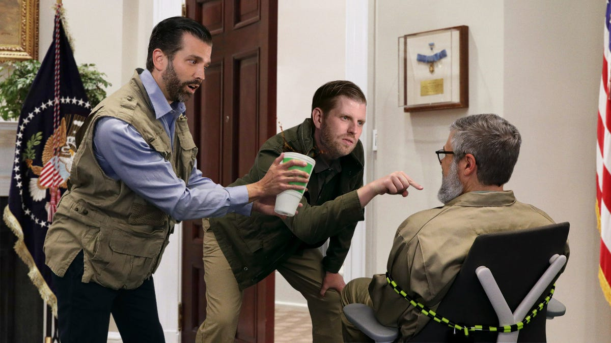 'Are You The Whistleblower?' Trump Boys Ask White House Janitor After Giving Him Serum Of All The Sodas Mixed Together
