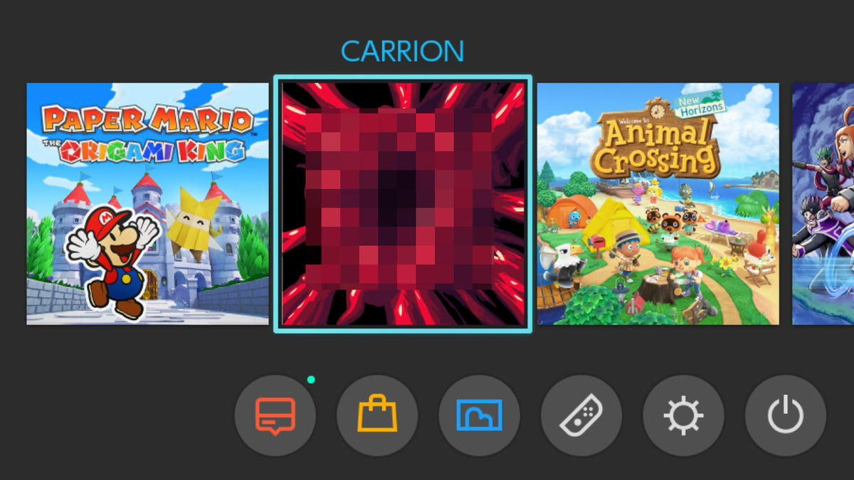 Carrion S Current Switch Icon Is A Monster Vagina